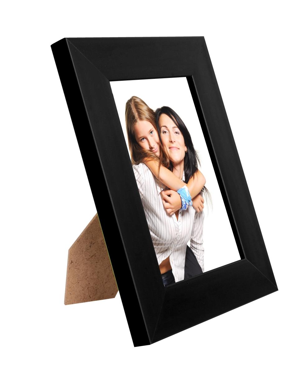 Dřevěný fotorámeček černý na foto 10 x 15 cm