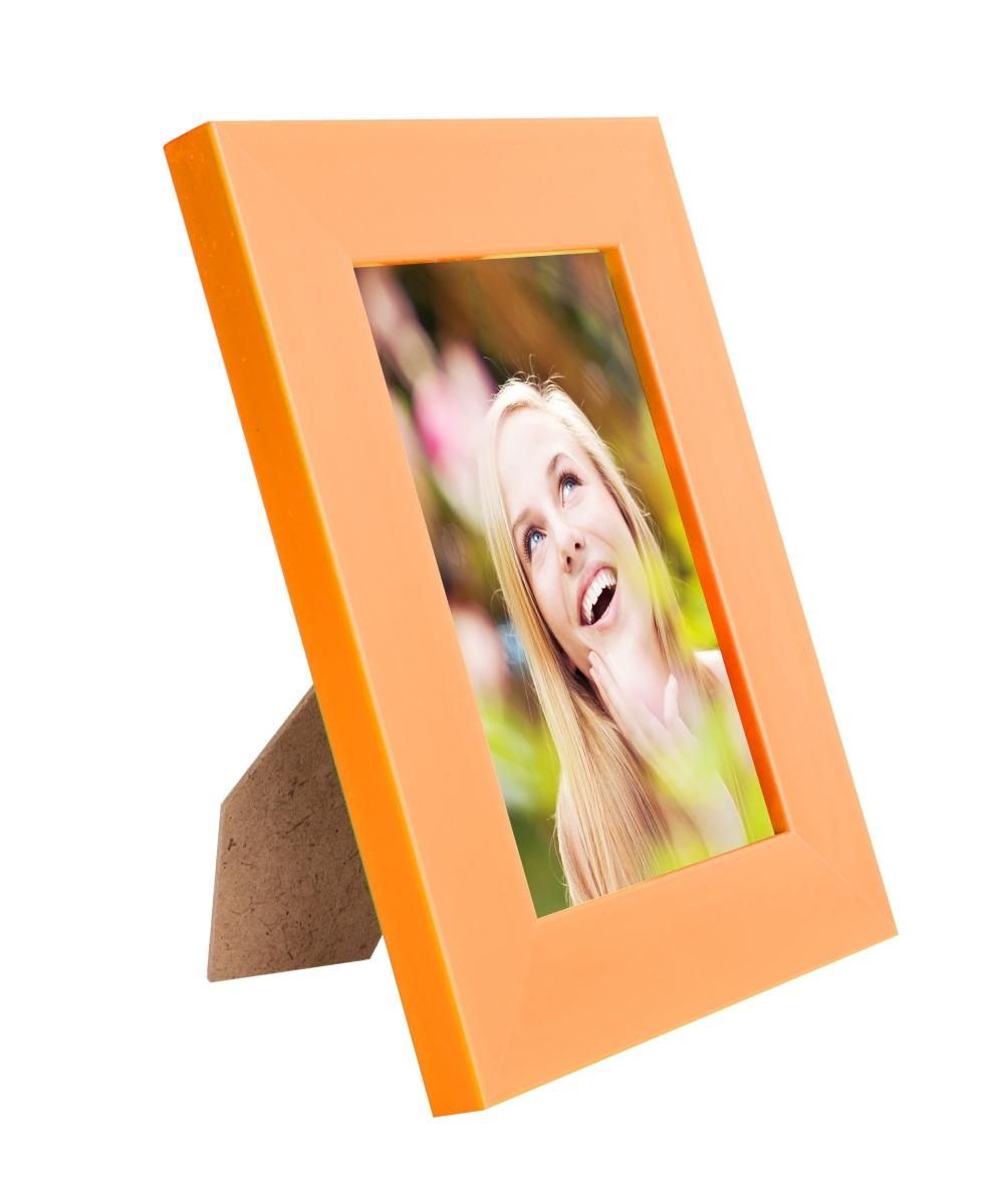 Dřevěný fotorámeček oranžový na foto 10 x 15 cm