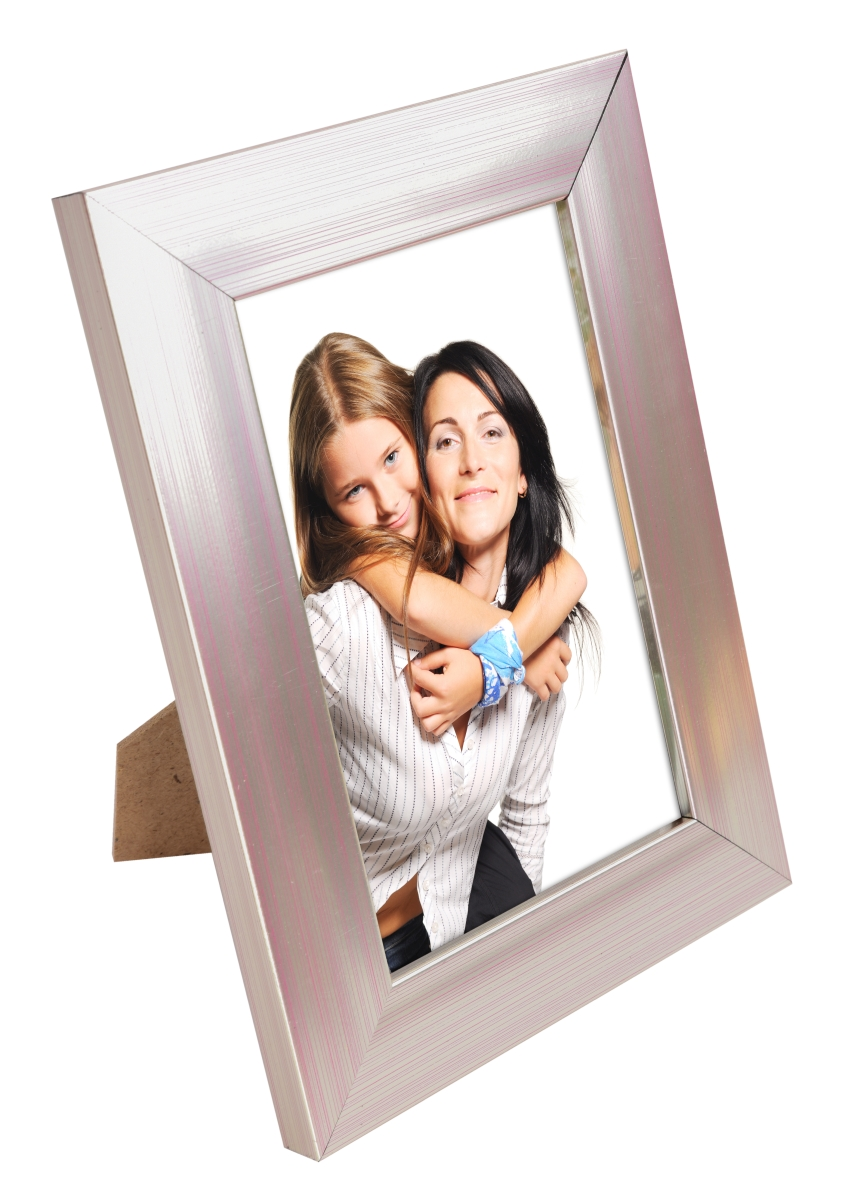Dřevěný fotorámeček metalic na foto 10 x 15 cm