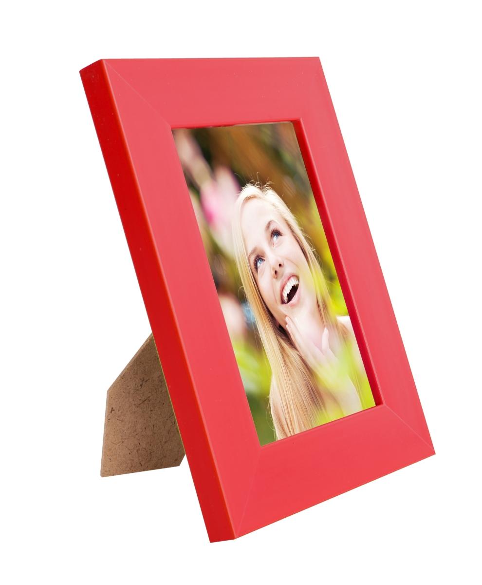 Dřevěný fotorámeček, červený
