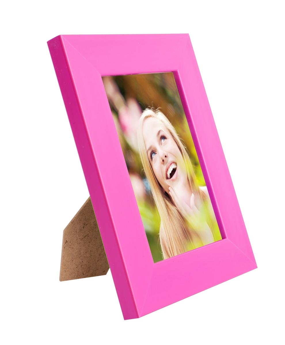 Dřevěný fotorámeček fuchsiový na foto 10 x 15 cm