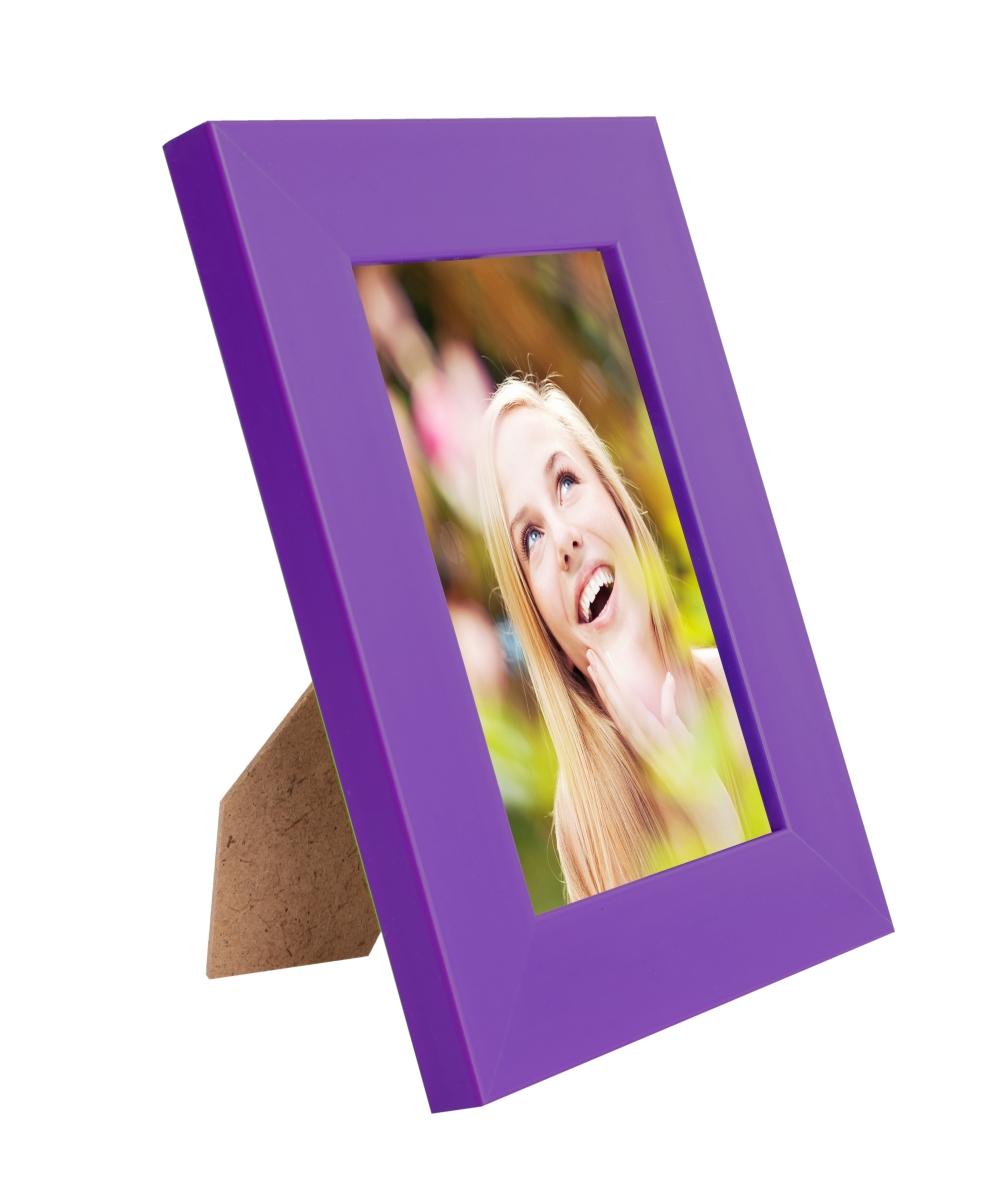 Dřevěný fotorámeček tmavě fialový na foto 9 x 13 cm