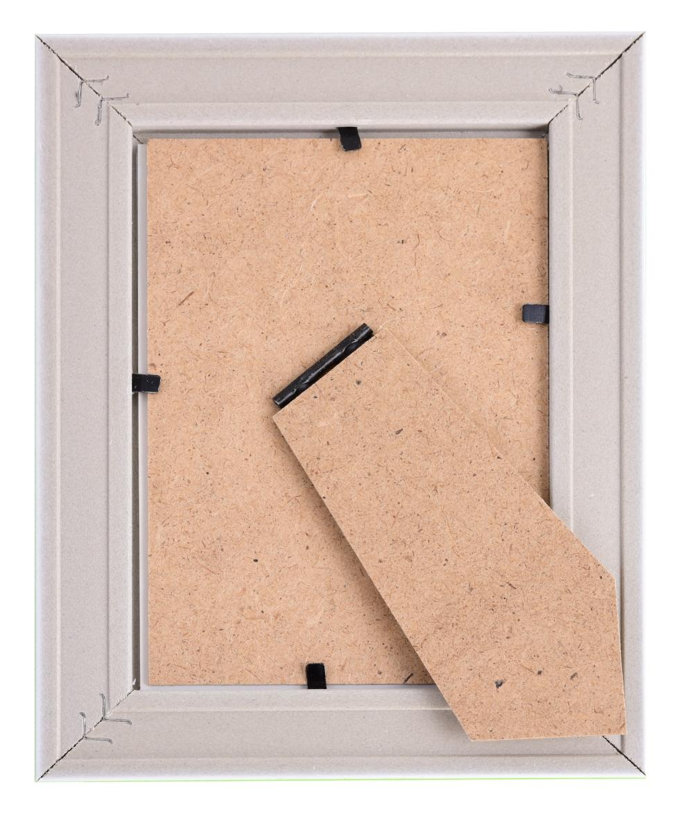 Dřevěný fotorámeček, metalic