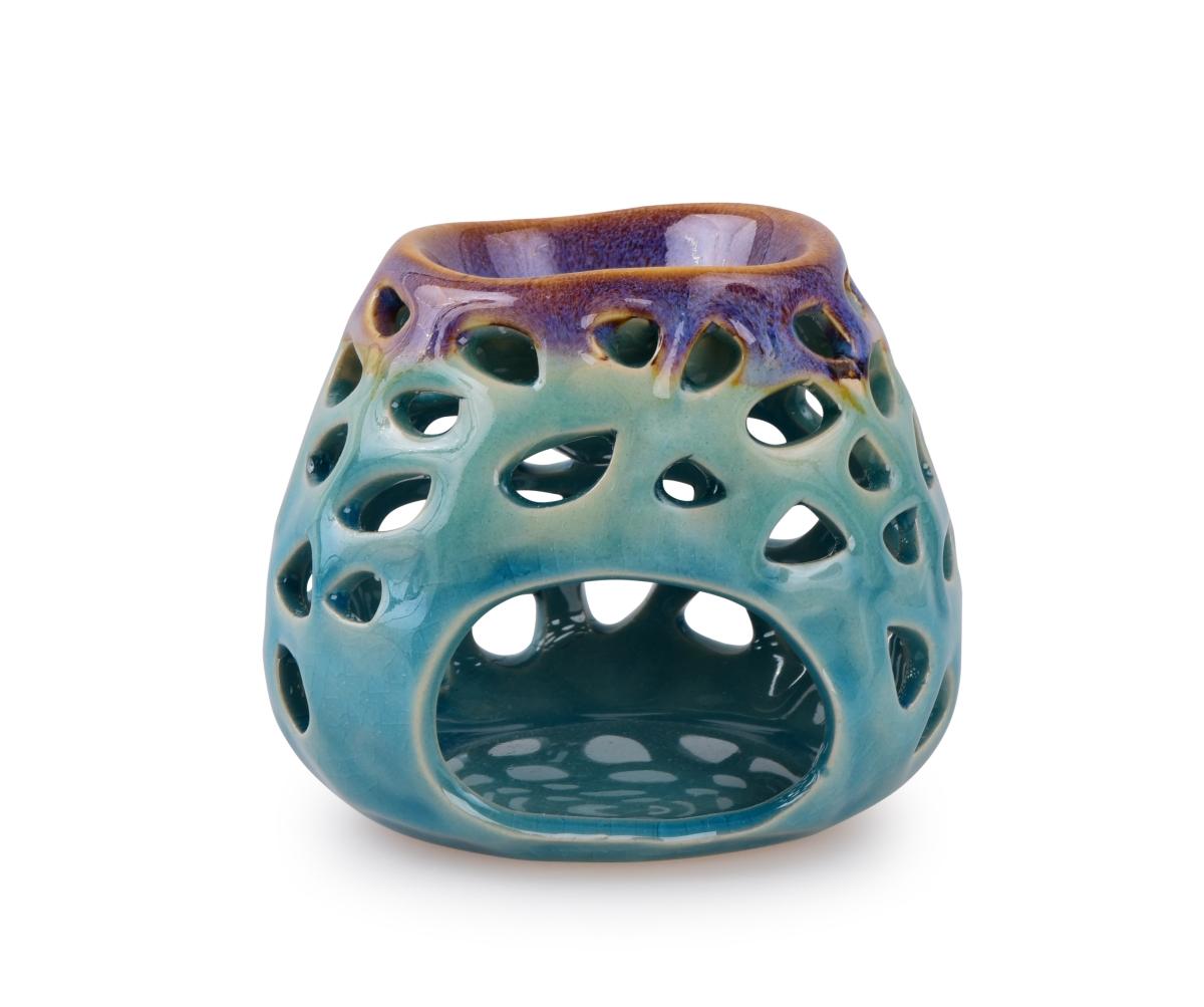Keramická aromalampa na čajovou svíčku tyrkysová