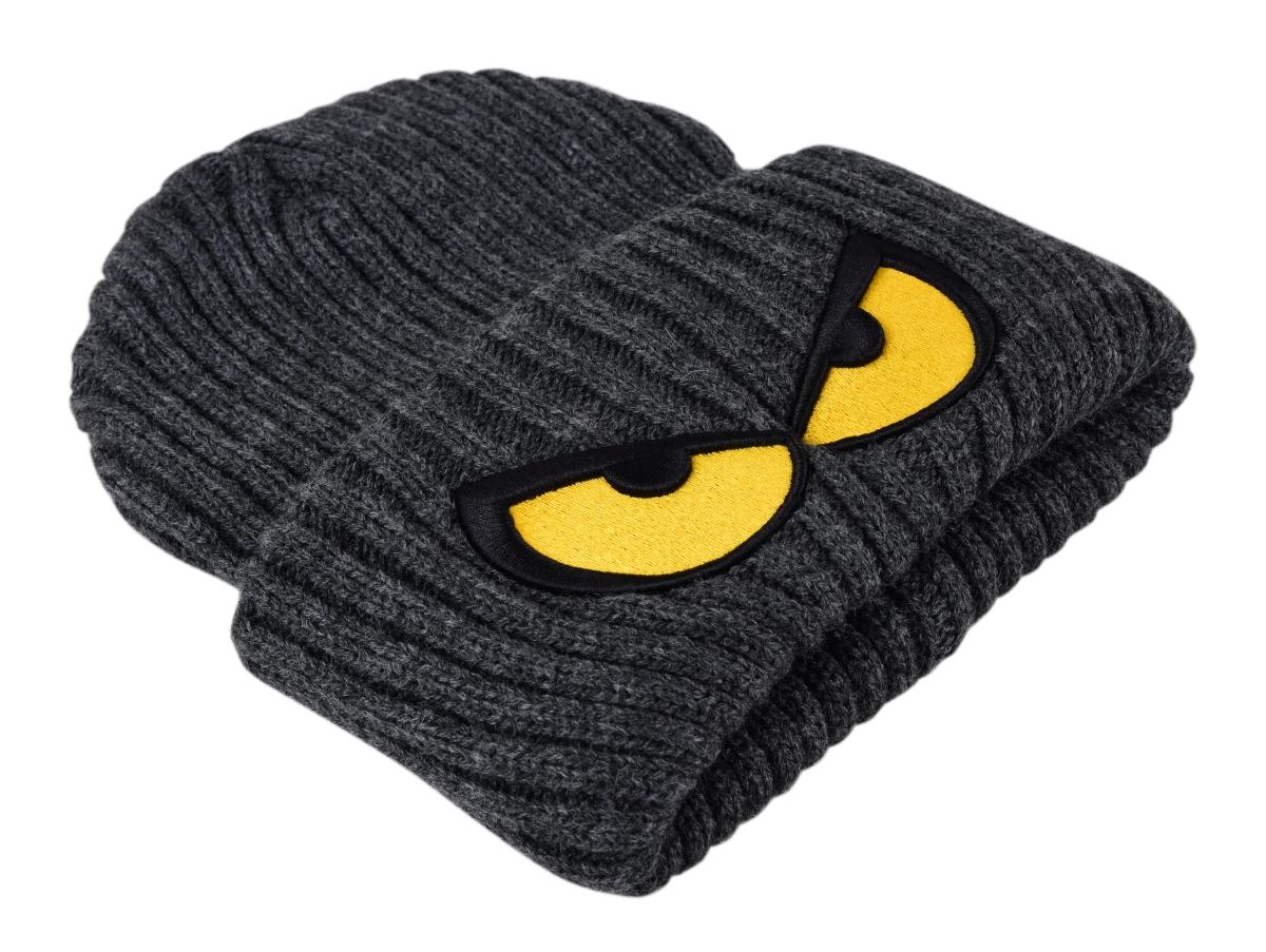 Čepice REBELITO®, zimní silná pletená, s našívanou aplikací