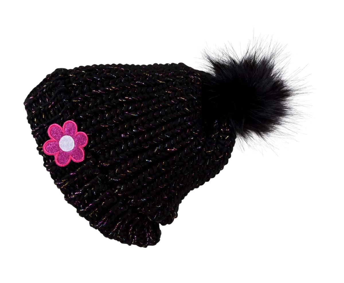 DAISY FLOWER by KIKISTAR®, zimní pletená čepice