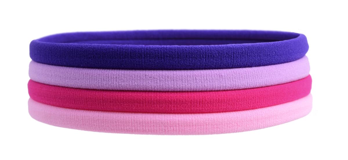 Elastické gumičky čelenky růžovo-fialové