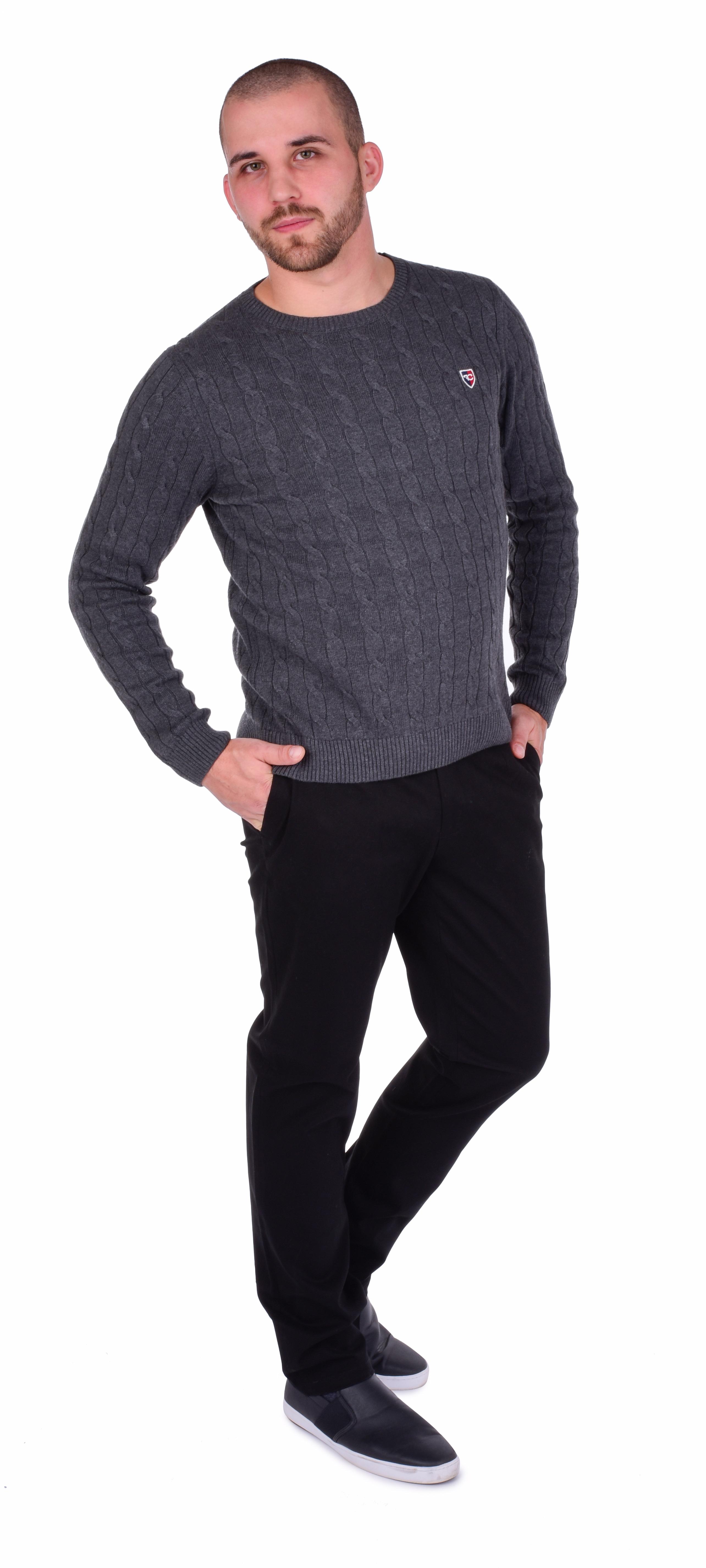 FC16851-GABARDIN pánske nohavice čierne