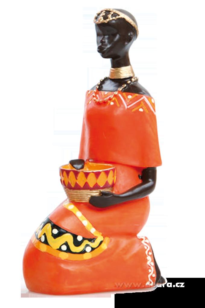 Klečící Afričankaprostorová plastikavýška 15 cm