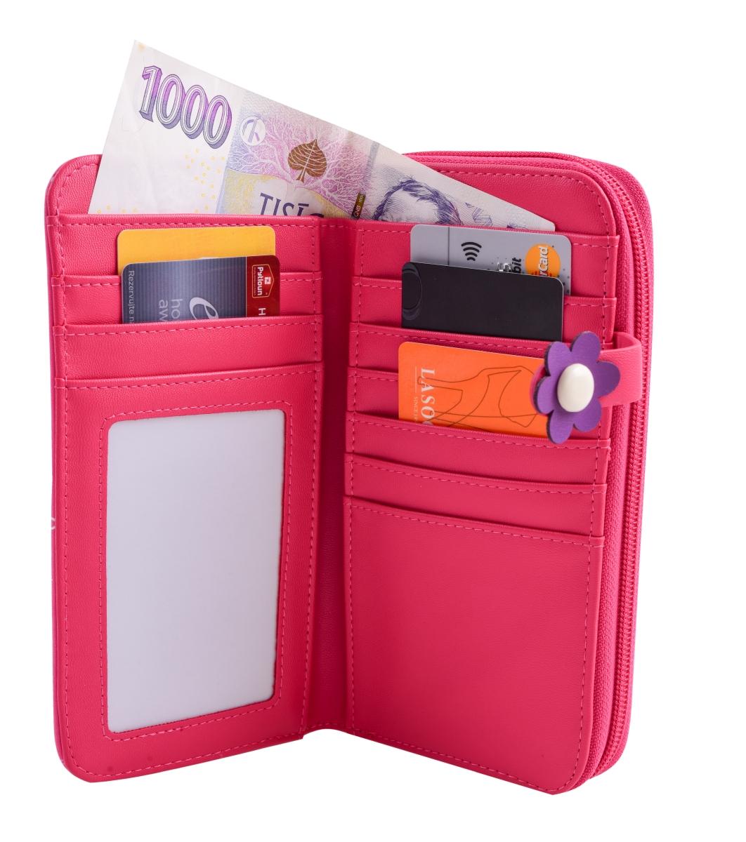 FC16701-Peňaženka KIKISTAR® z ekokože pink