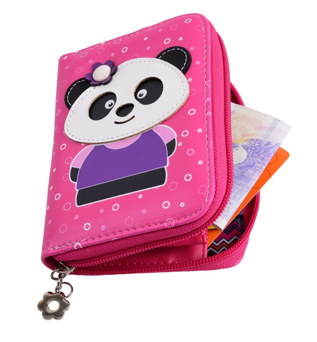 FC16691-Peňaženka KIKISTAR® z ekokože pink
