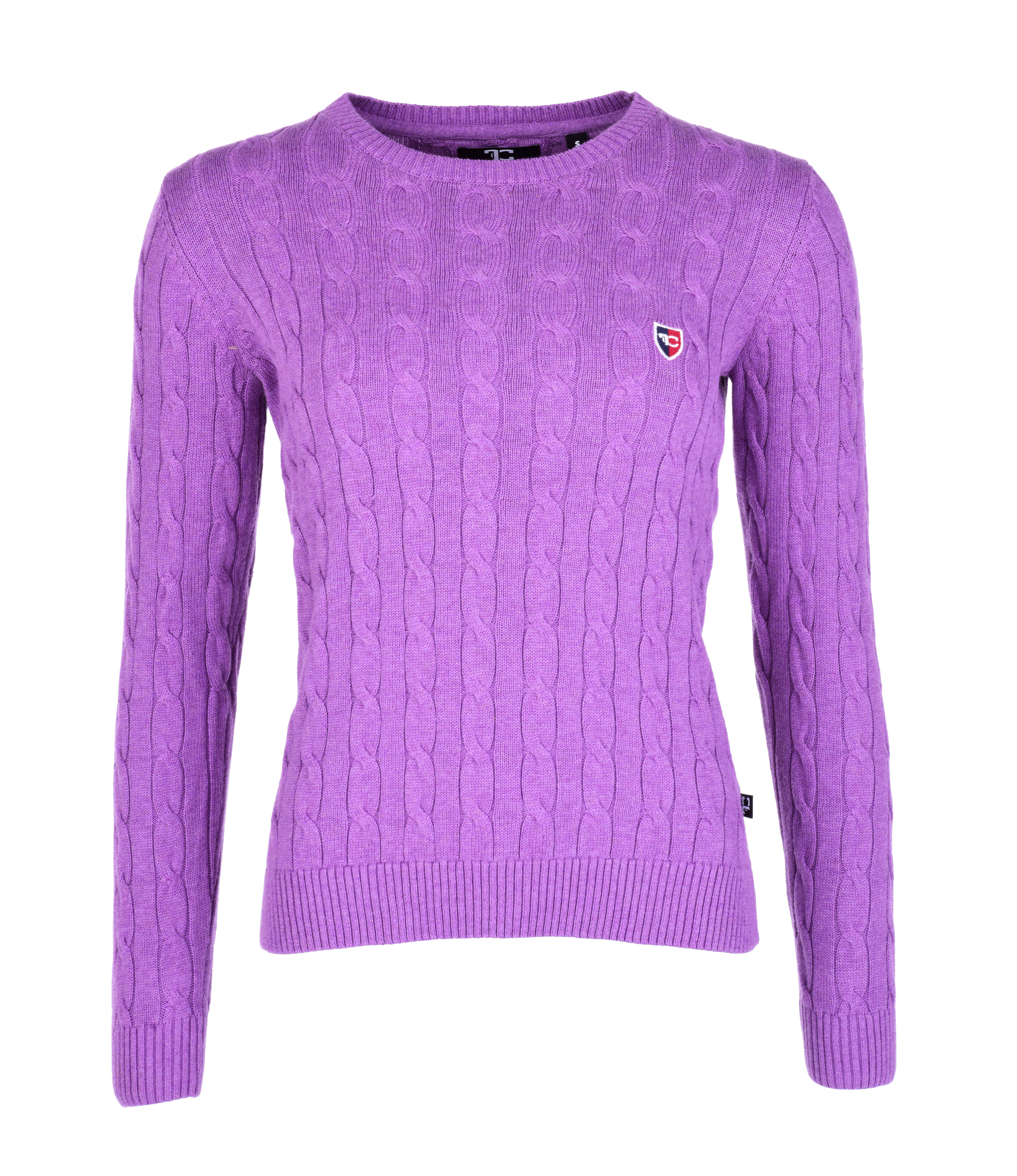 COTTON CHARMANTÉ dámský svetr lila melange 4(XL)