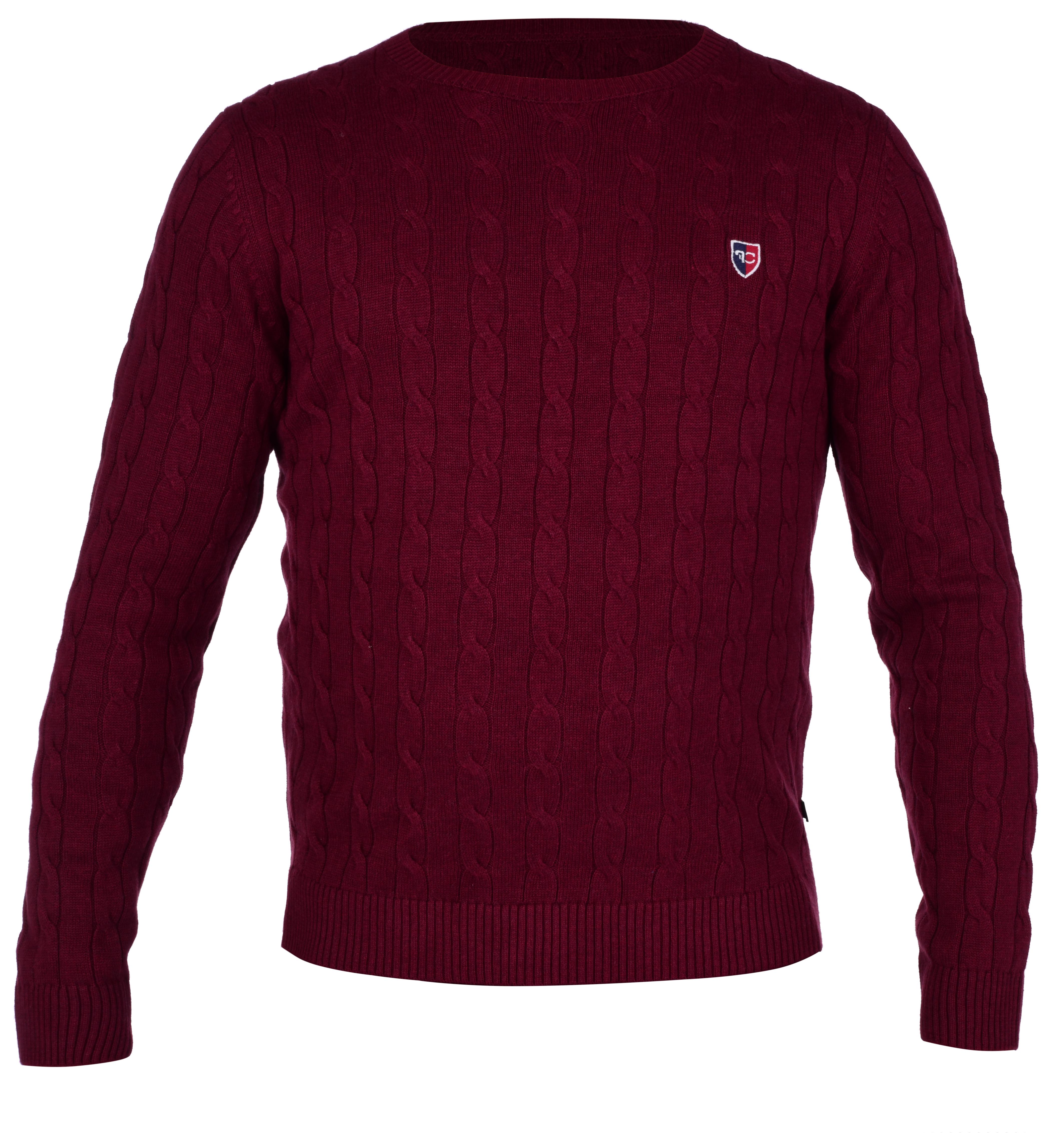 Pánský bavlněný svetr COTTON LÉGER bordó melange   3(XL)