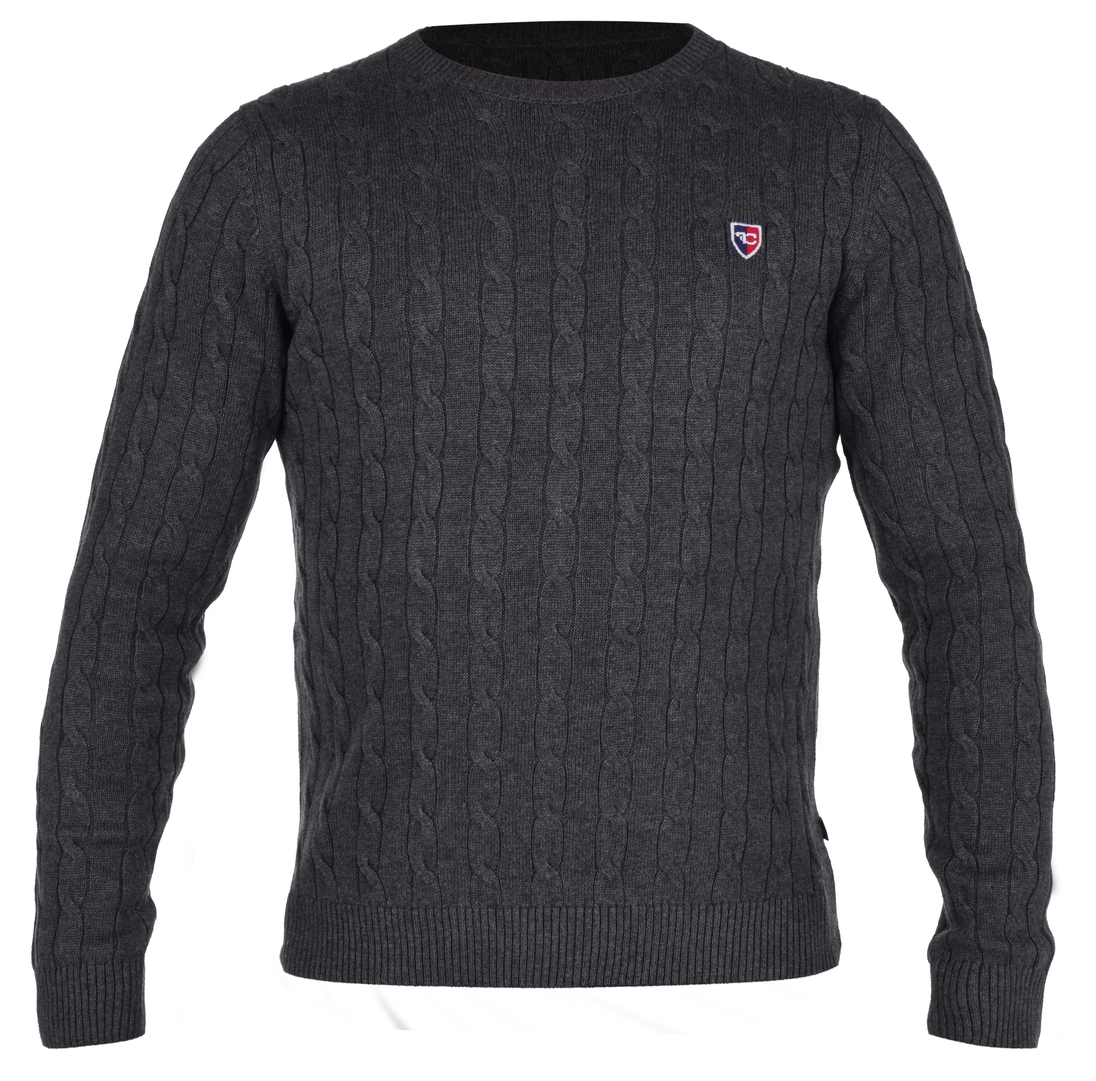 COTTON LÉGER pánský svetr šedá melange 1(M)