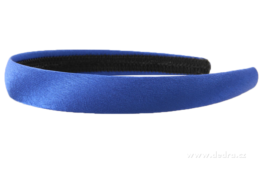 Čelenka do vlasů potaž. lesk. saténem modrá,šíře: 2 cm