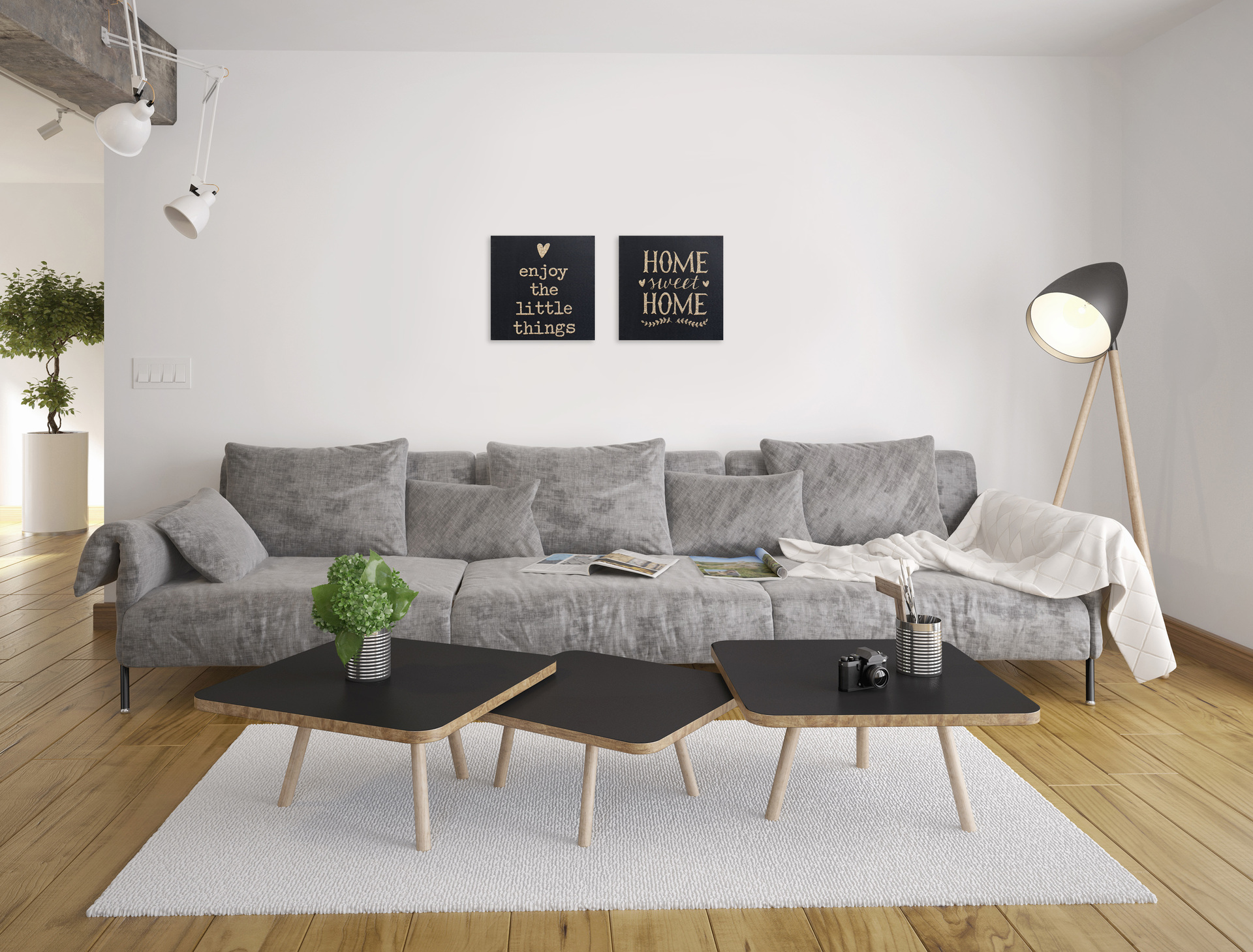 Obraz na plátně, s glitter efektem Home Sweet Home