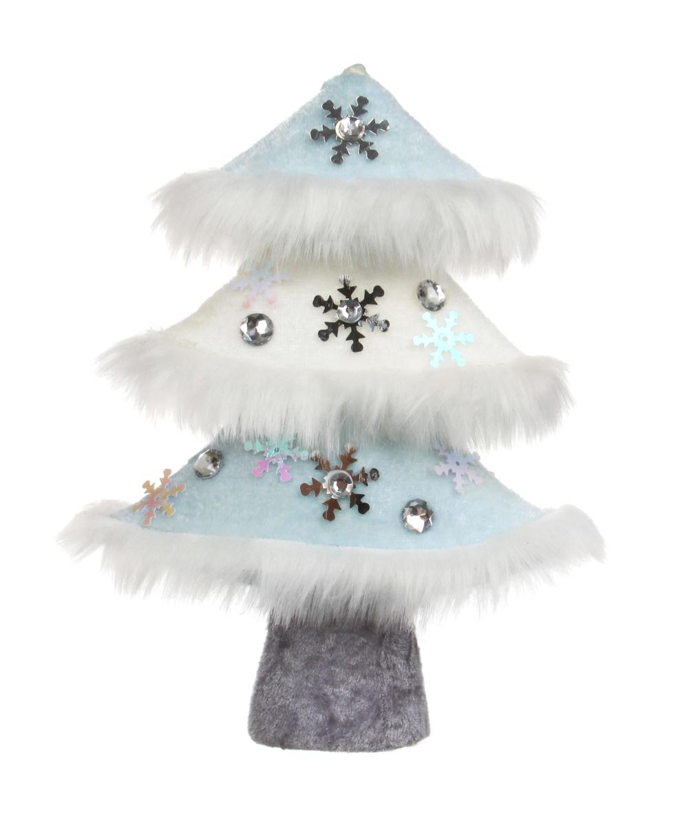 20 cm dekorativní stromek WHITE&BLUE