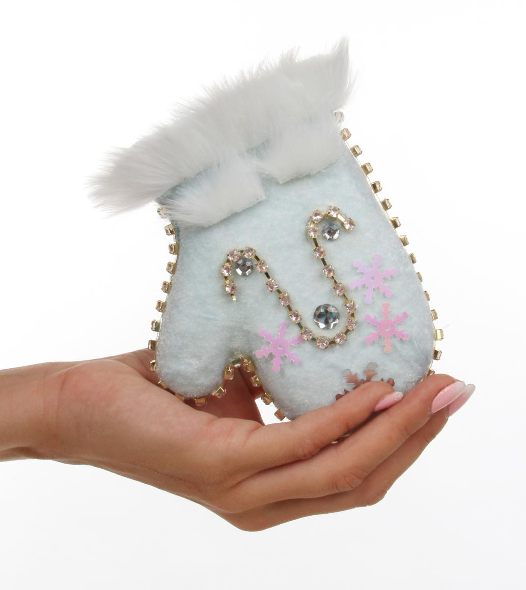 POSLEDNÍ KUSY! 14 cm velká sametová rukavice závěsná dekorace