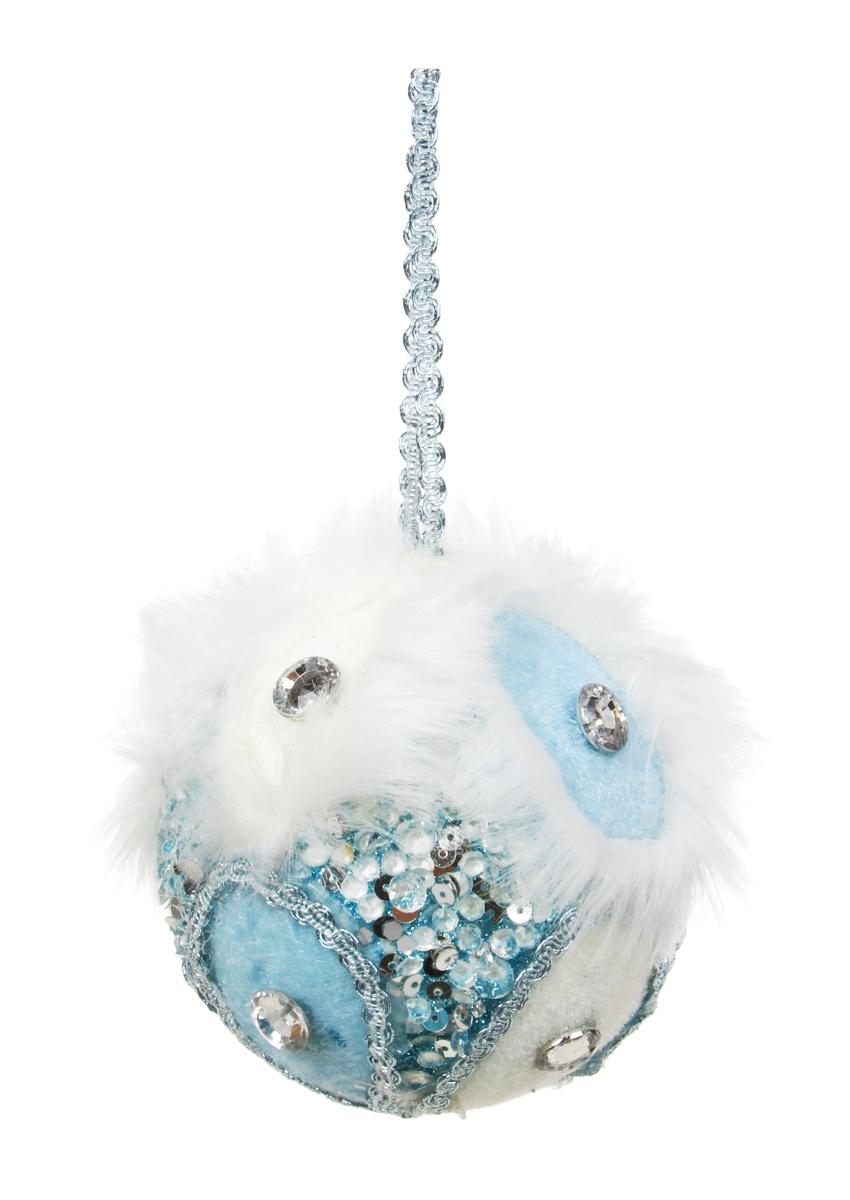 Velká ozdobná koule WHITE&BLUE
