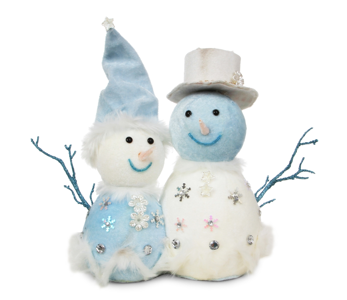 2 v 1 pán a paní SNĚHULÁKOVI, WHITE&BLUE