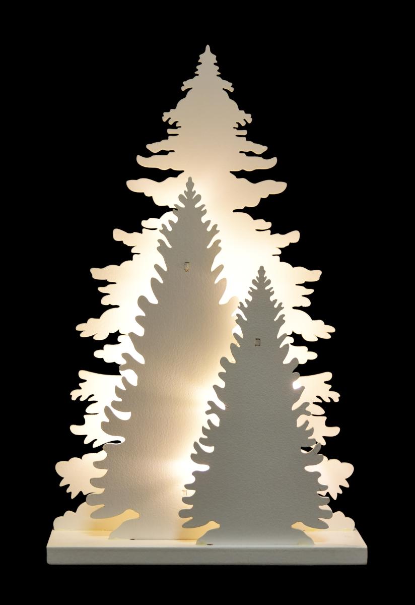 Tři svítící stromky, s 15 LED žárovičkami