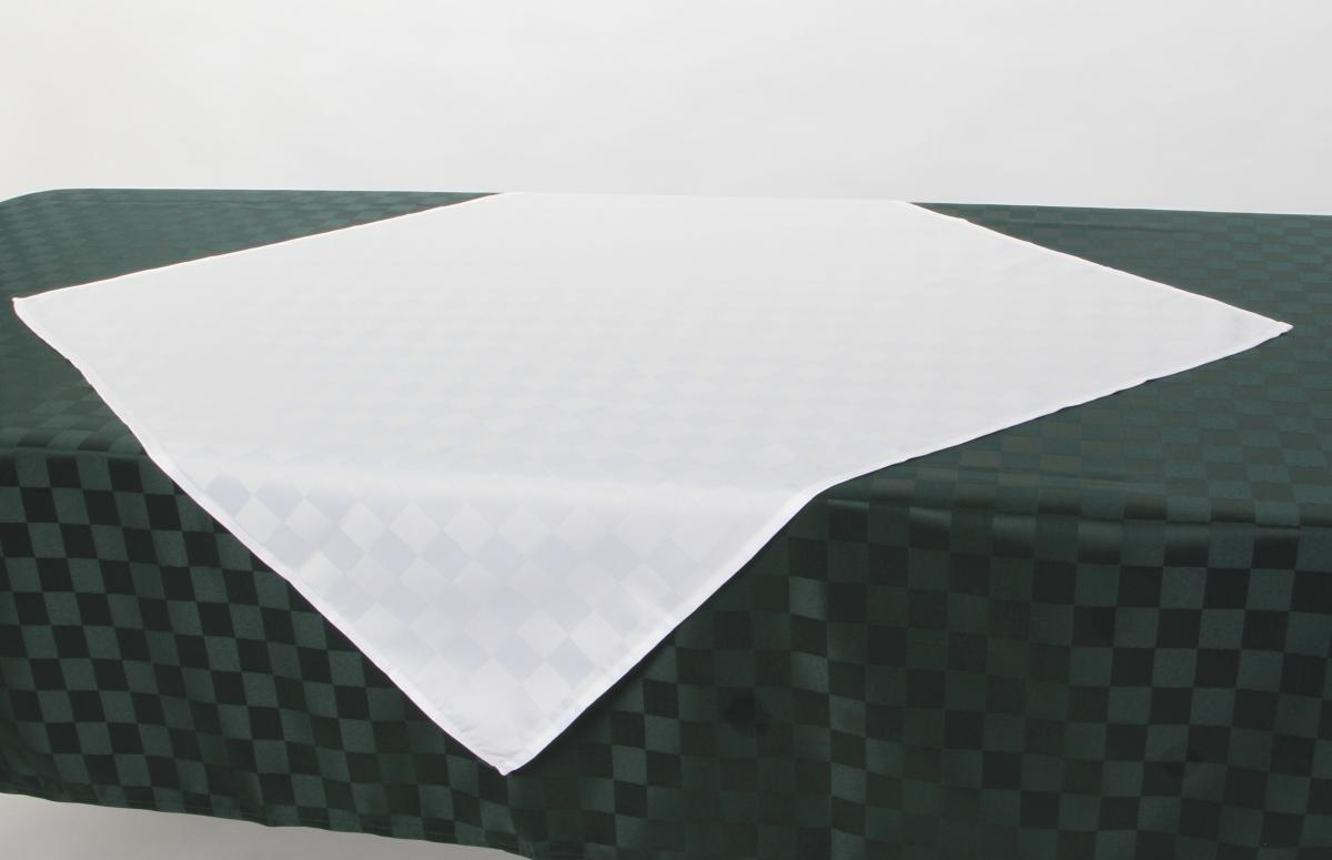 FC16111-KÁRO OBRUS 85 x 85 cm snehovo biely