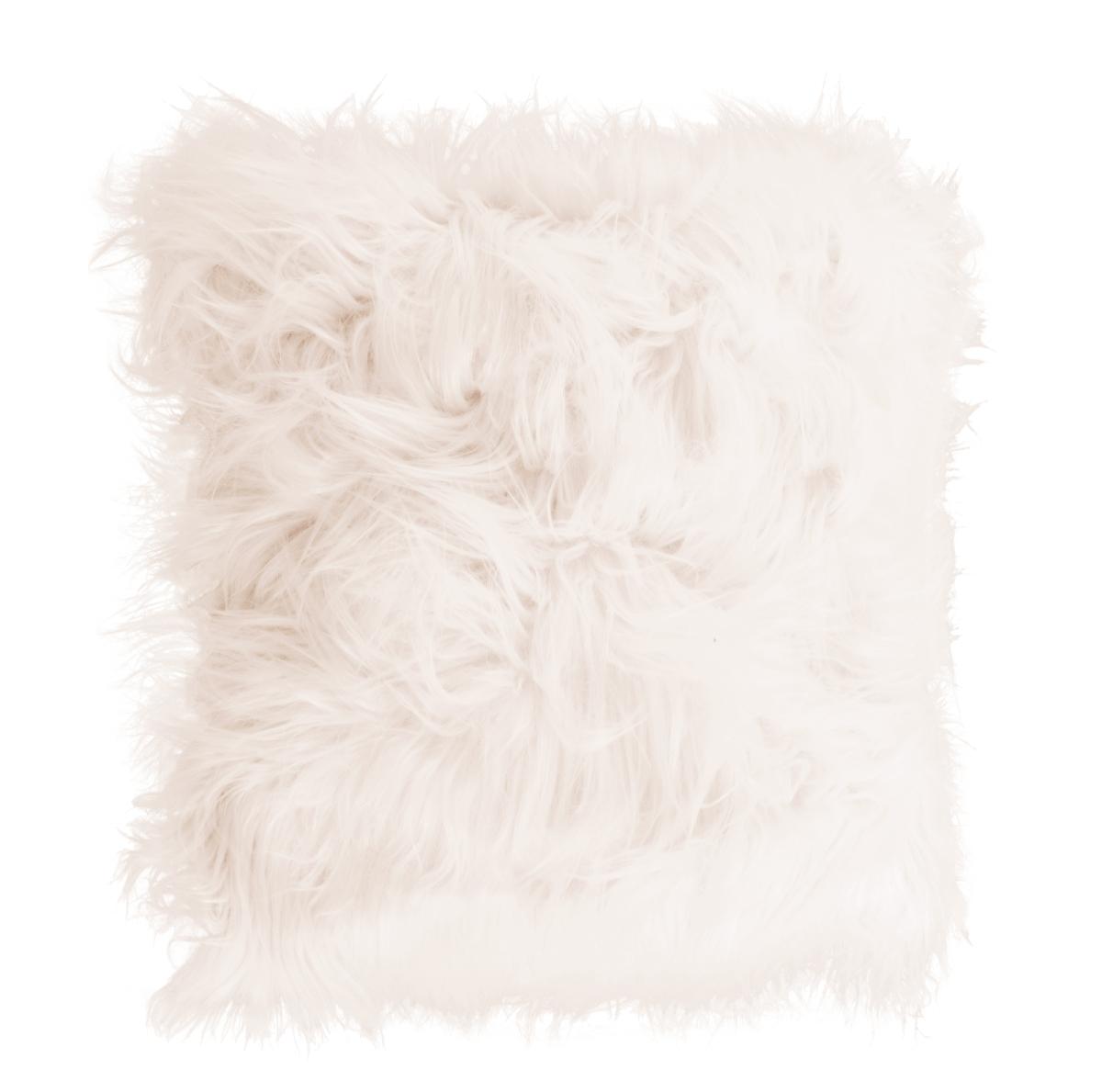 Dekorační potah  na polštář,přírodní z česané umělé kožešiny