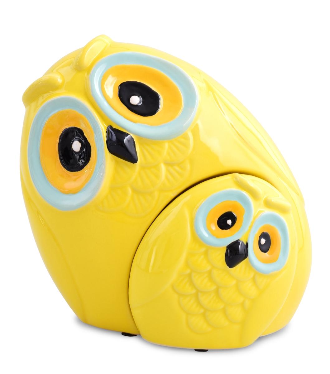 Dekorativní SOVA 2v1  keramická žlutá