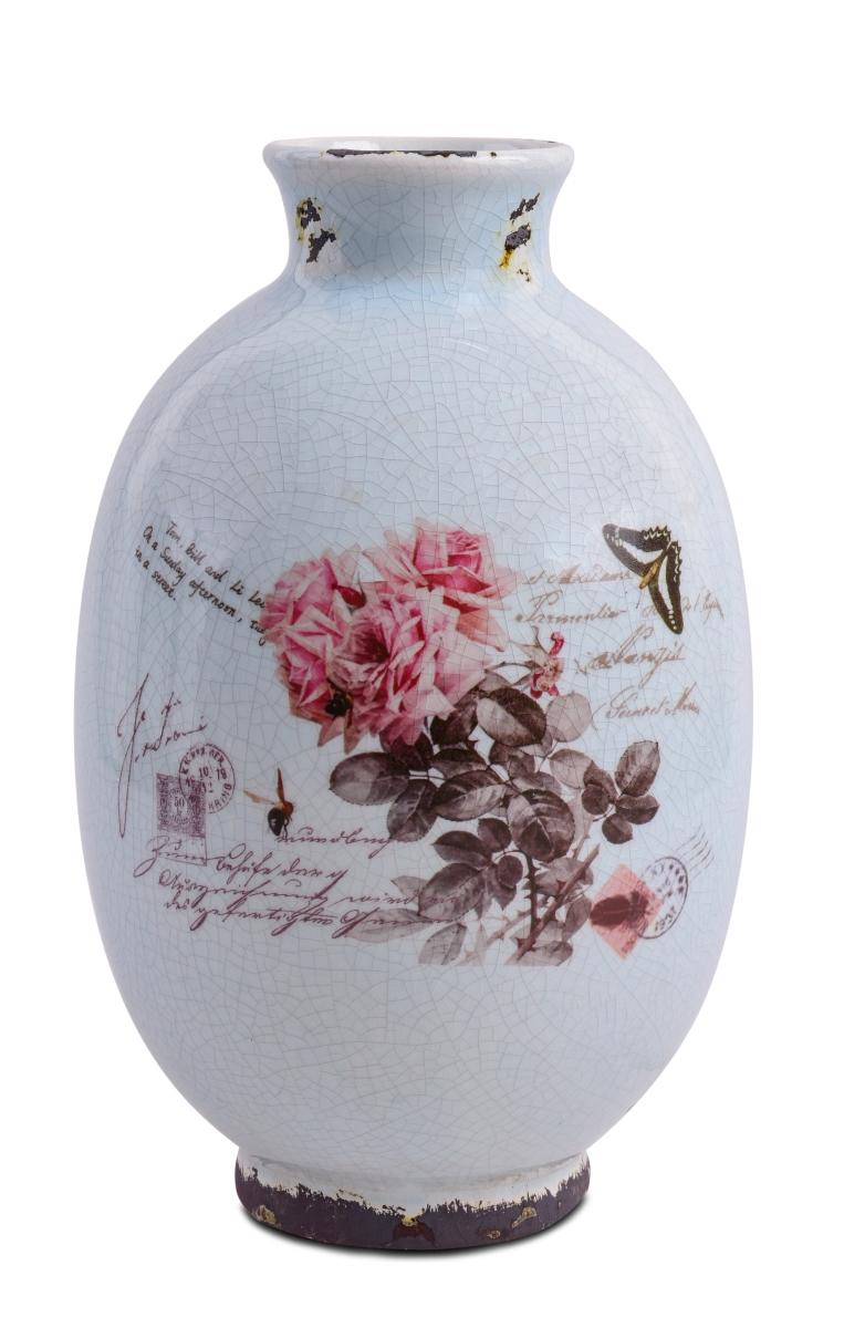 Keramická váza s dobovou patinou výška 28 cm