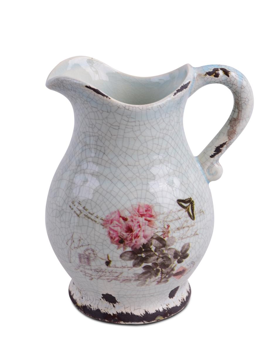 Keramický antický džbán s dobovou patinou výška 22,5 cm