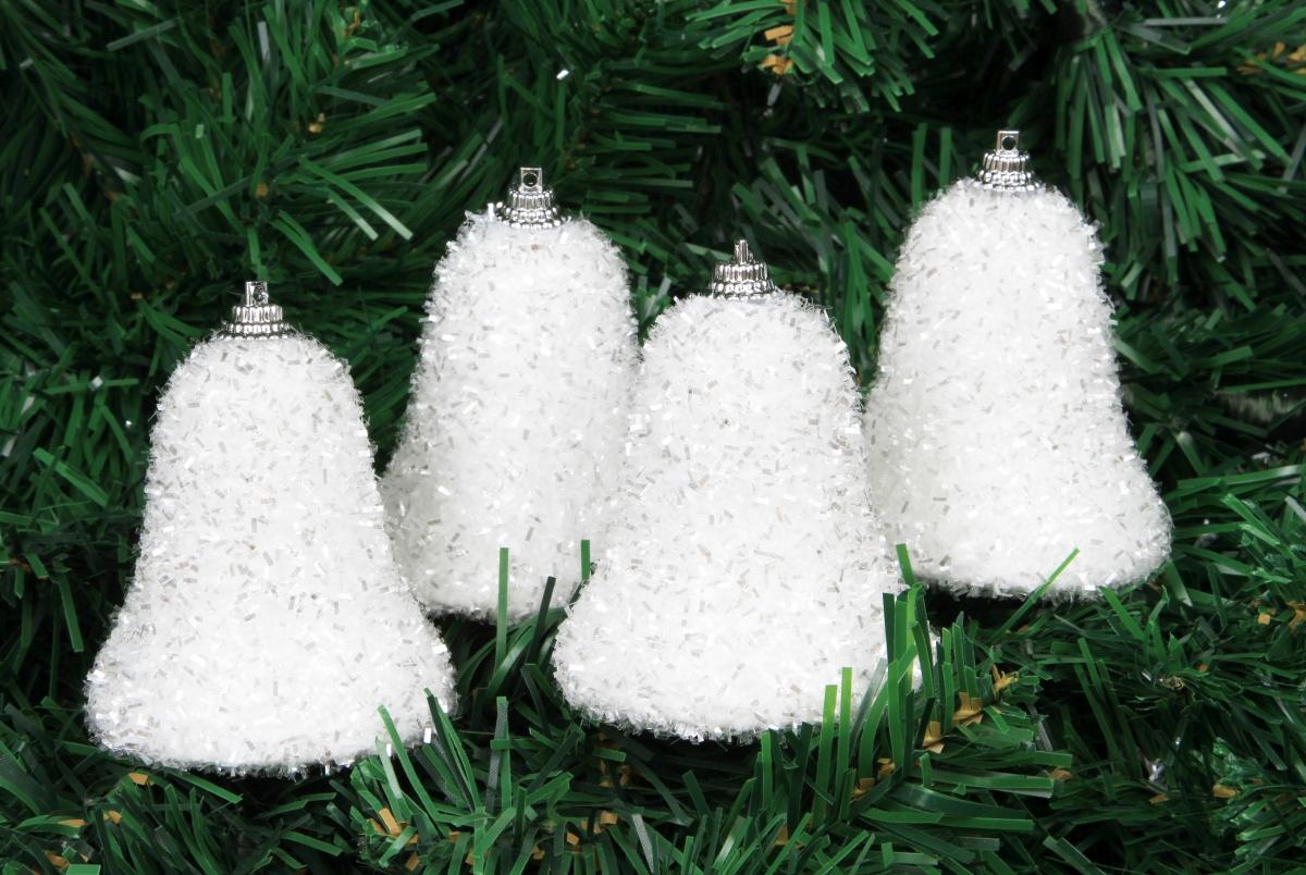 4 ks zvonečků sněhově bílých