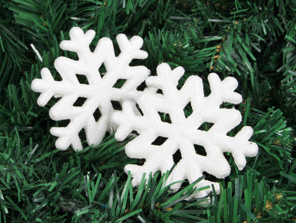 2 ks sněhově bílých vloček
