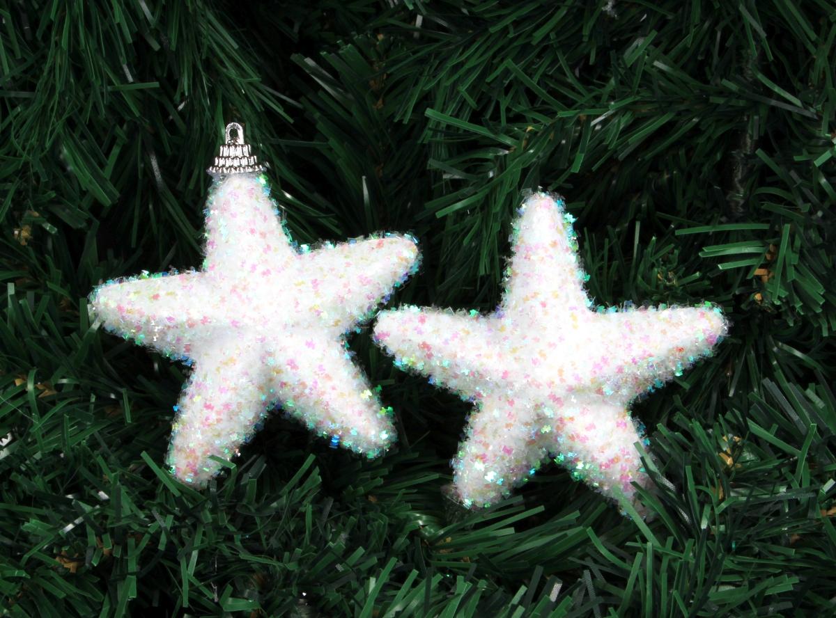 2ks sněhově bílých hvězdiček