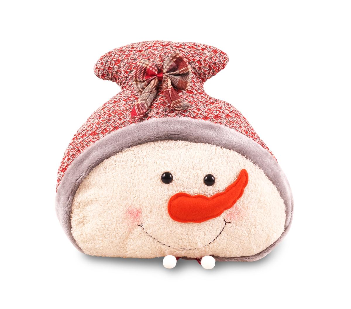 Dekorativní polštář, ve tvaru sněhuláka