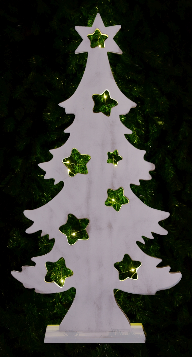 XXL vánoční stromek dřevěný s LED osvětlením.