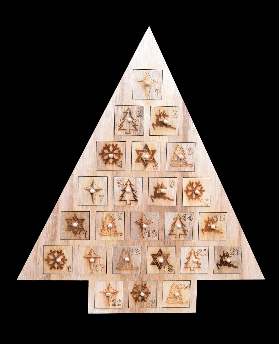 Adventní kalendář 40 cm, dřevěný