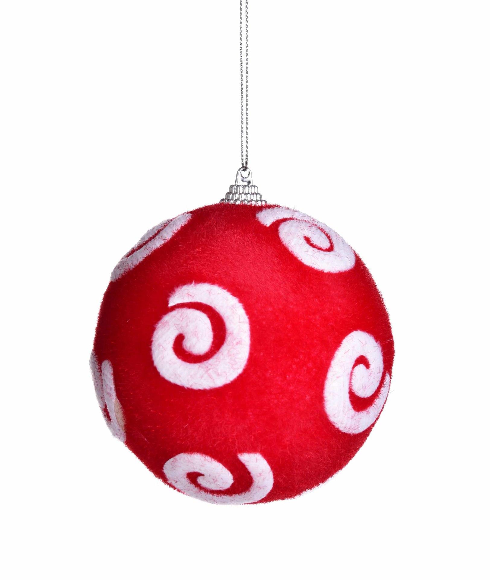 1 ks červená koule průměr 8,5 cm
