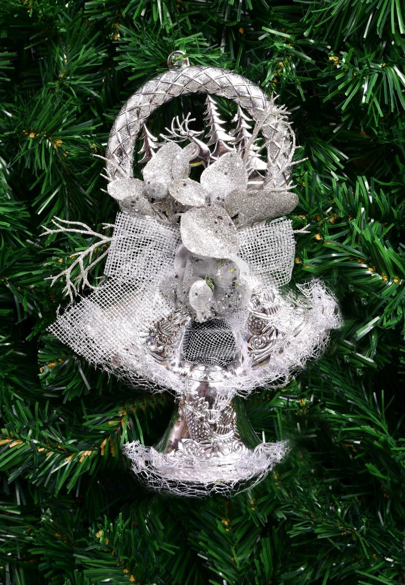 Závěsná dekorace, ve tvaru tří zvonků 26 cm