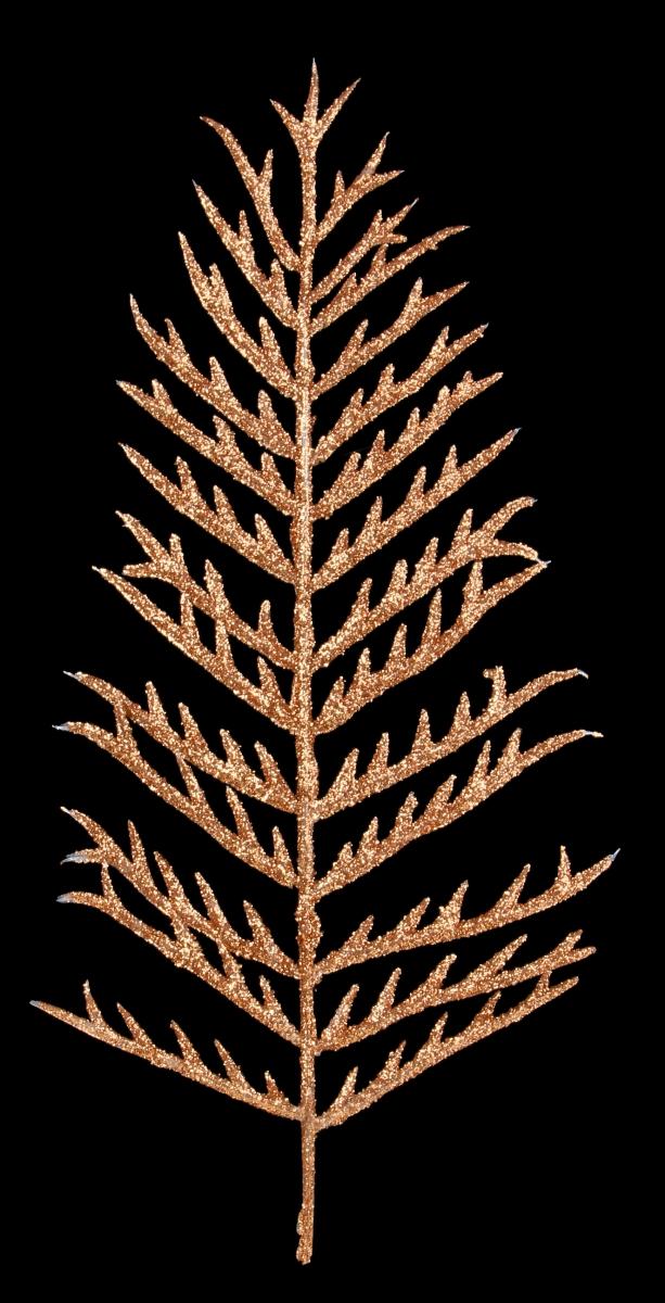 2 ks bronzového kapradí délka cca 40 cm