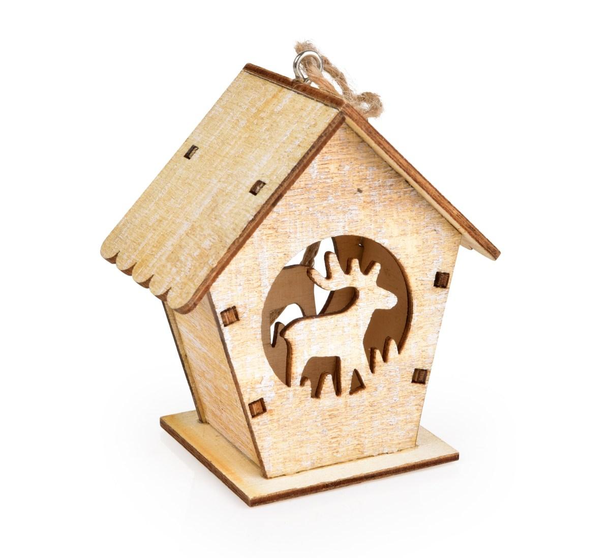 DA15381-Drevený dekoratívny domček so sobom
