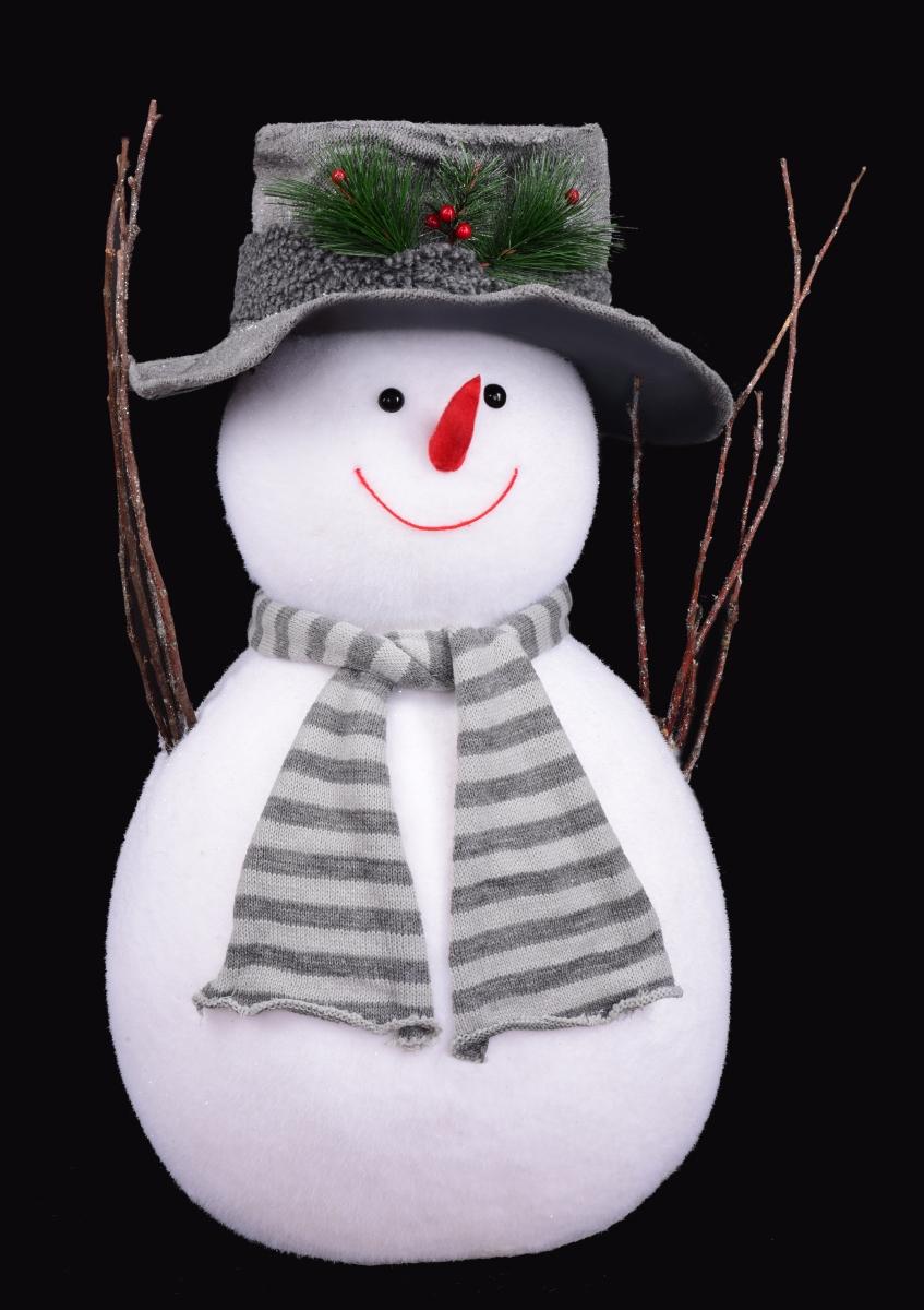 70 cm velký sněhulák v klobouku