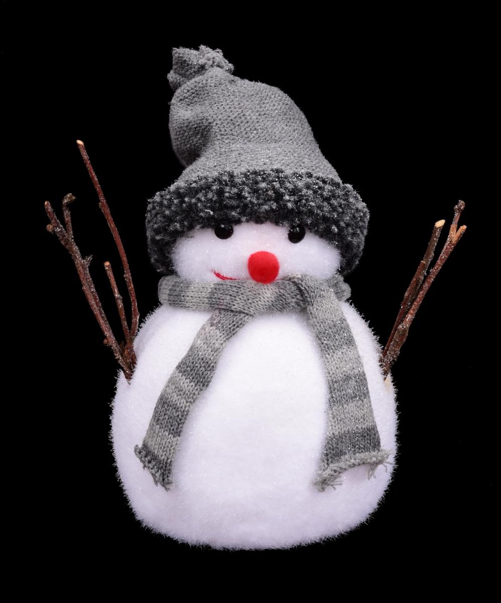 Velký sněhulák s čepicí 24 cm