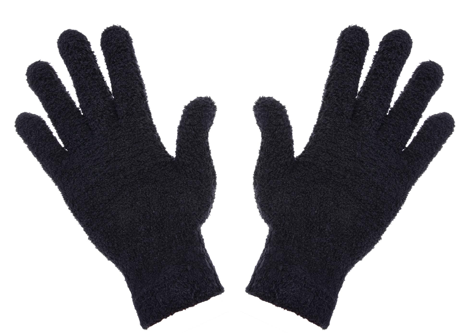 Žinylkové rukavice, hřejivé, černé
