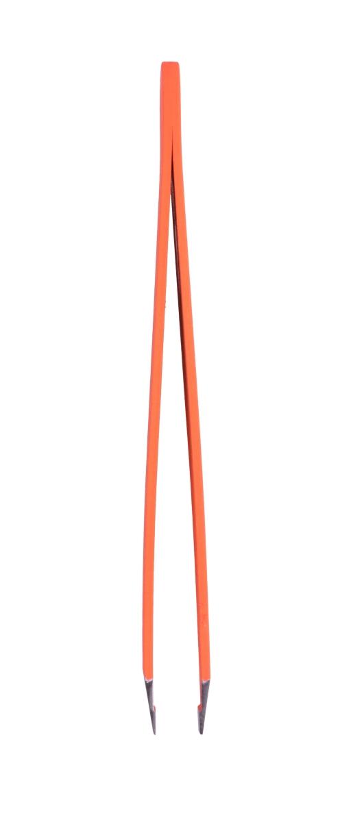 PINZETA  šikmá, nerezová oranžová