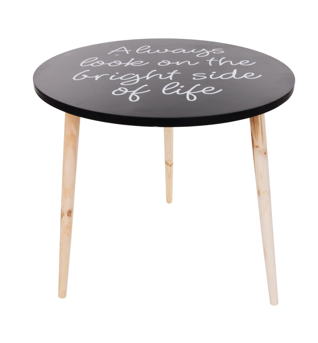 Kulatý stolek Trojnožka s nápisy, veký