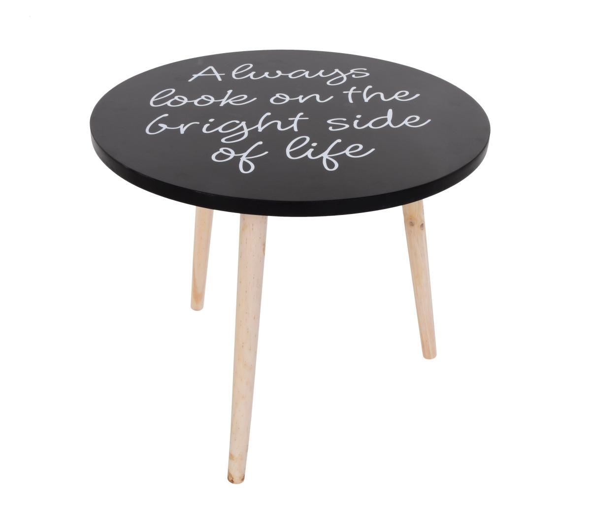 Kulatý stolek Trojnožka s nápisy, střední