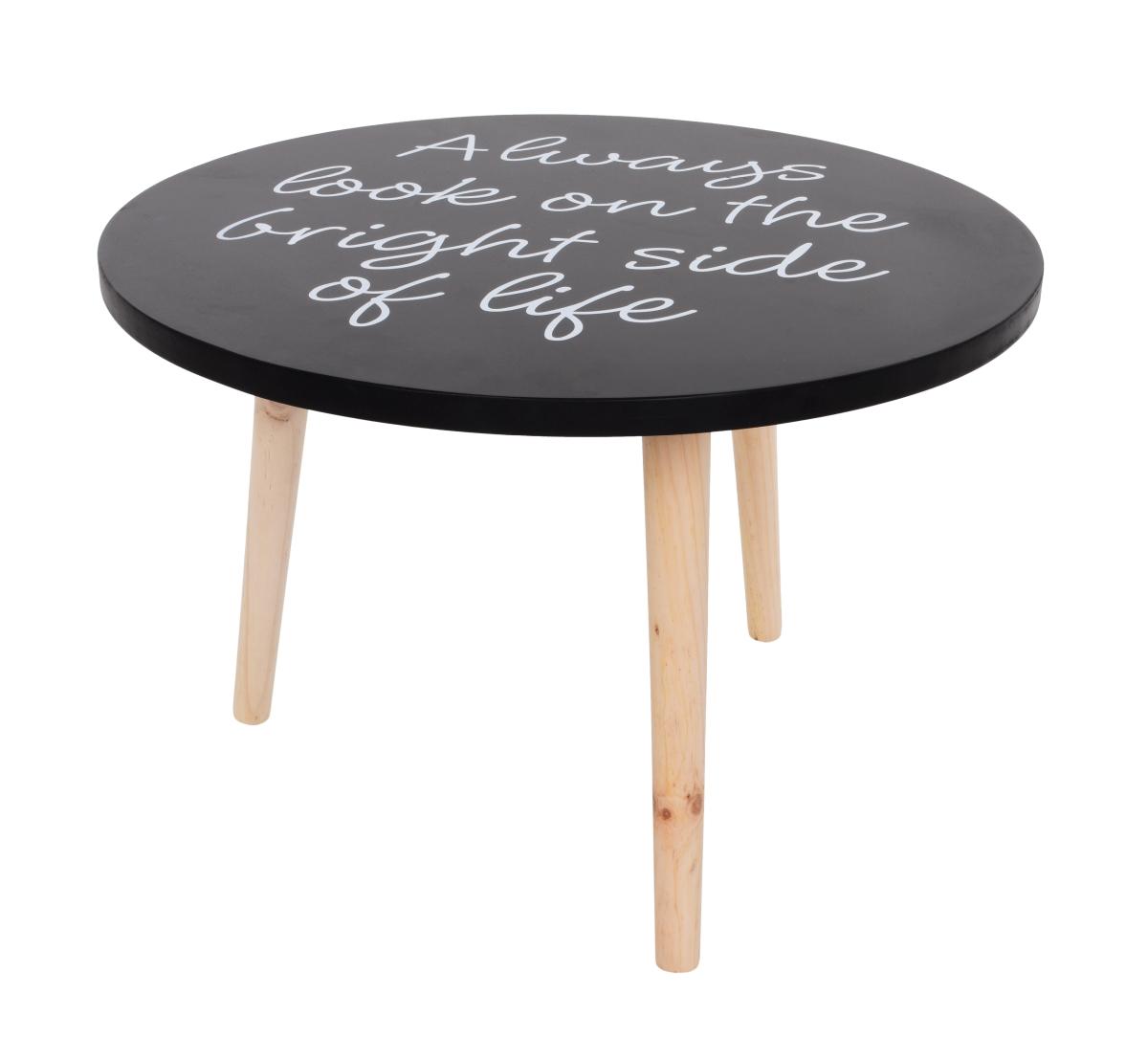 Dřevěný stolek kulatý trojnožka