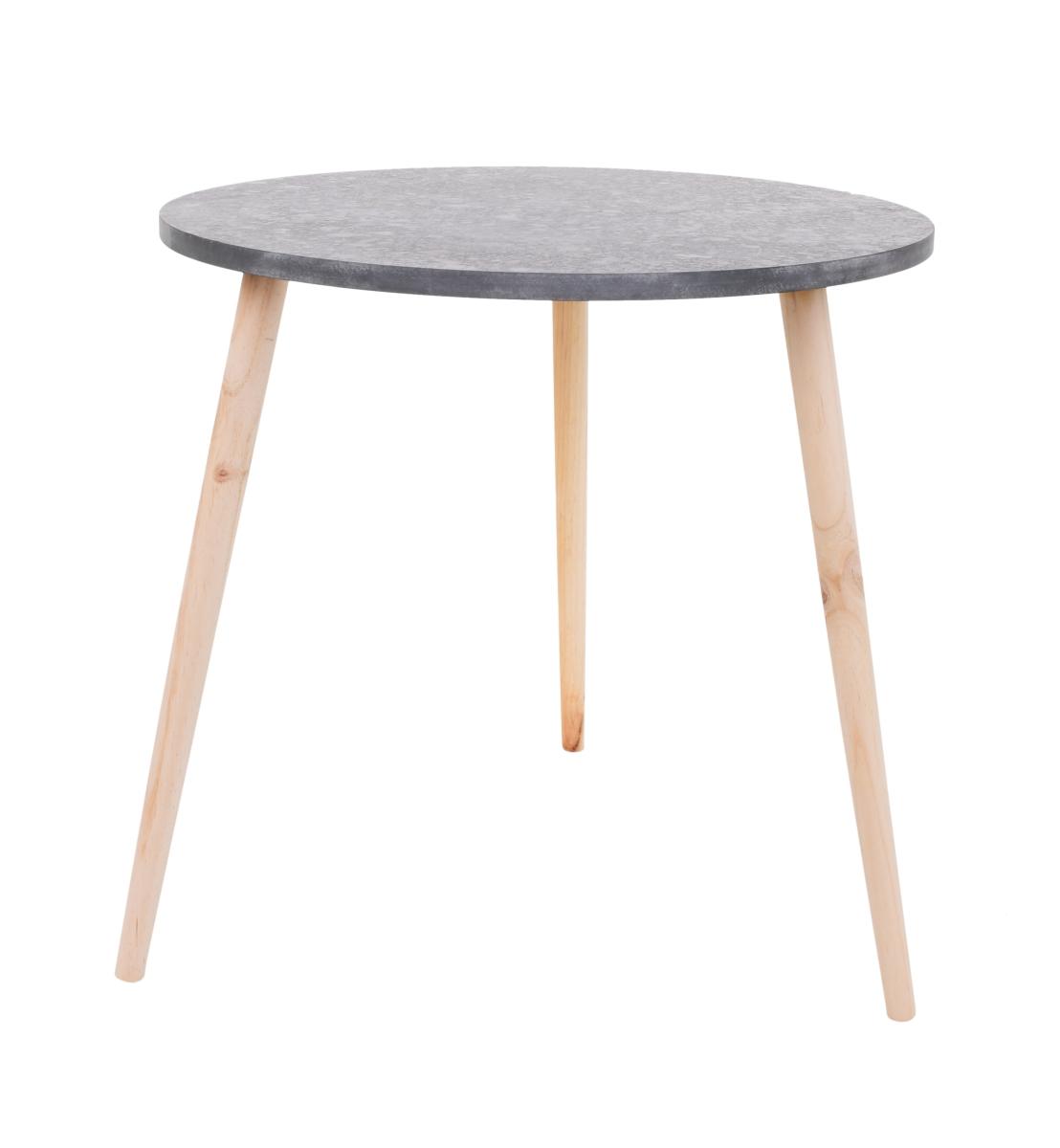 Kulatý stolek Trojnožka šedý, velký