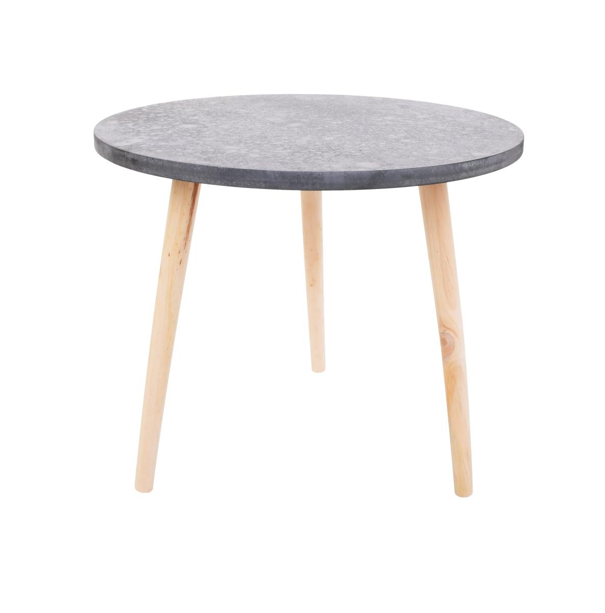 Kulatý stolek Trojnožka šedý, střední