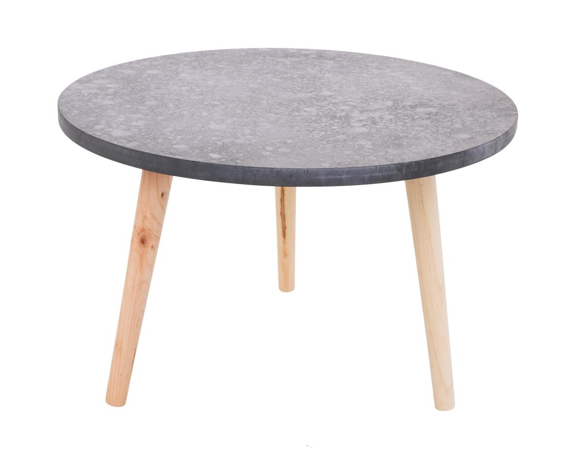 Kulatý stolek Trojnožka  šedý, menší